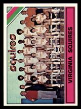 1975-76 Topps #330 Virginia Squires Team Card Near Mint