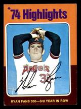 1975 Topps Mini #5 Nolan Ryan HL Excellent  ID: 313285