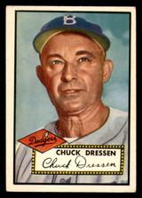 1952 Topps #377 Chuck Dressen MG VG-EX High Number