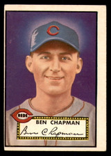 1952 Topps #391 Ben Chapman UER CO VG-EX High Number
