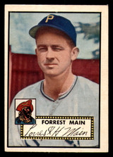 1952 Topps #397 Forrest Main Very Good RC Rookie High Number
