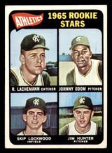 1965 Topps #526 Rene Lachemann/Johnny Odom/Skip Lockwood/Jim Hunter Athletics Rookies UER Excellent RC Rookie SP  ID: 313611