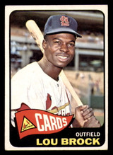 1965 Topps #540 Lou Brock Excellent+ SP  ID: 313612