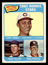 1965 Topps #581 NL Rookies Tony Perez/Kevin Collins/Dave Ricketts Excellent RC Rookie SP  ID: 313613