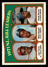 1972 Topps #87 Joe Torre/Willie Stargell/Hank Aaron NL RBI Leaders Excellent+  ID: 313731