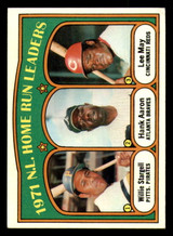 1972 Topps #89 Willie Stargell/Hank Aaron/Lee May NL HR Leaders VG-EX