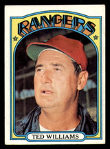 1972 Topps #510 Ted Williams MG Excellent  ID: 313742