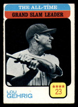 1973 Topps #472 Lou Gehrig ATL Very Good  ID: 313762