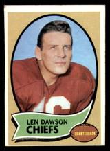 1970 Topps #1 Len Dawson UER Excellent+  ID: 313854