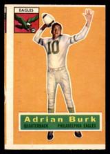 1956 Topps #52 Adrian Burk Miscut