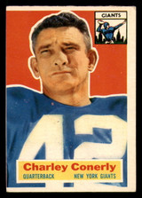 1956 Topps #77 Charley Conerly Miscut