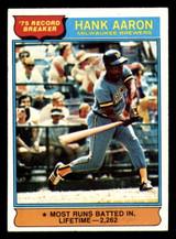 1976 Topps #1 Hank Aaron RB Ex-Mint  ID: 313872