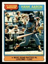 1976 Topps #1 Hank Aaron RB Excellent+  ID: 313873