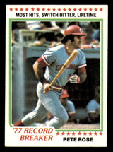 1978 Topps #5 Pete Rose RB Ex-Mint  ID: 314009