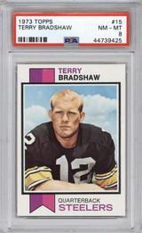 1973 Topps #15 Terry Bradshaw PSA 8 NM-Mint