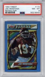 1994 Topps Finest Refractors #172 Joe Montana PSA 8 NM-Mint  ID: 314138