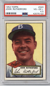 1952 Topps #320 John Rutherford PSA 4.5 VG-EX+ RC Rookie High Number