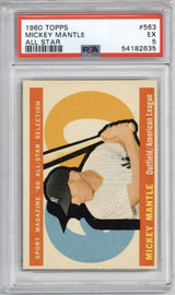 1960 Topps #563 Mickey Mantle AS PSA 5 EX  ID: 314158