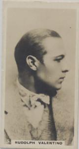 1926 Lamert & Butler London Popular Film Stars #5/50 Rudolph Valentino Ex-Mt  #*