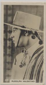 1926 W,D, & H.O. Wills Ltd Scissors Cigarettes Cinema Stars #10/50 Rudolph Valentino Ex  #*