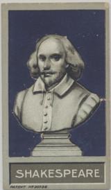 1907 Godfrey Phillips Bust Of Famous People #9 William Shakespeare Good  #*