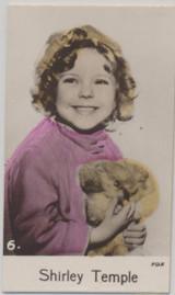 1935 C & T Bridewater Film Stars 4th Series #6/48 Shirley Temple Ex-Mt  #*