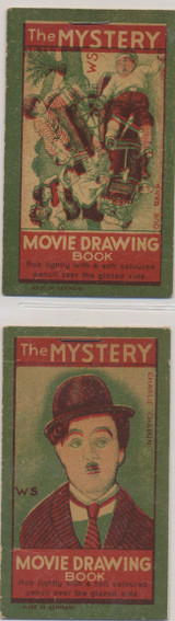 1920s Made In Germany The Mystery Movie Drawing Book (Total Of 2 Different) Charlie Chaplin Ex++  #*