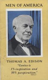 1928 H572 Men Of America #2 Thomas Edison Ex (Booklet)  #*