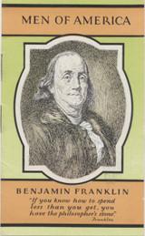1928 H572 Men Of America #7 Benjamin Franklin Booklet 8 Pages Ex  #*