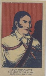 1920s Strip Card Davy Crockett Nr-Mt Blank Back  #*