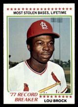 1978 Topps #1 Lou Brock RB Near Mint  ID: 314197
