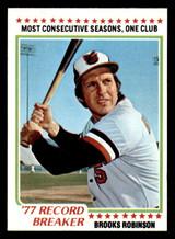 1978 Topps #4 Brooks Robinson RB Near Mint+  ID: 314198