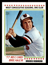 1978 Topps #4 Brooks Robinson RB Near Mint+  ID: 314199