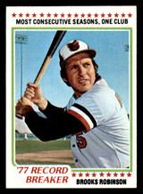 1978 Topps #4 Brooks Robinson RB Ex-Mint  ID: 314200