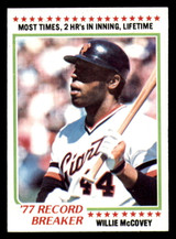 1978 Topps #3 Willie McCovey RB Ex-Mint  ID: 314202