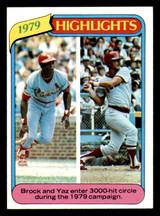 1980 Topps #1 Lou Brock/Carl Yastrzemski HL Near Mint  ID: 315390