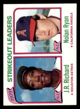 1980 Topps #206 J.R. Richard/Nolan Ryan LL Near Mint  ID: 315395