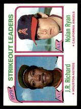 1980 Topps #206 J.R. Richard/Nolan Ryan LL Ex-Mint  ID: 315396