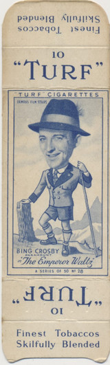 1949 Famous Film Stsar Carreras Turf #28/50 Bing Crosby  #*