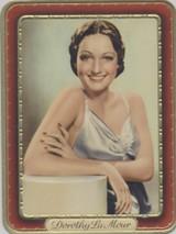 1937 Fi;lm Favourites Garbaty Berlin #45 Dorothy Lamour Ex+++  #*