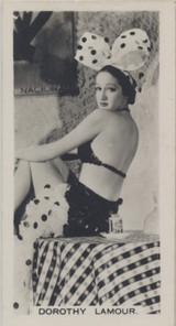 1938 Film Stars Carreras #33 Dorothy Lamour ex (Small Size) Tobacco Size  #*