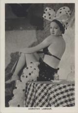 1938 Film Stars Carreras #25 Dorothy Lamour ex (Large Size)   #*