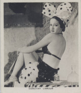 1938 Film Stars Carreras #33 Dorothy Lamour ex (Medium Size)  #*