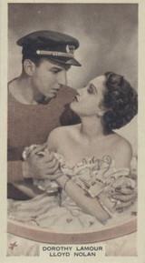 1937 Film Fayourites 3rd Series #53 Dorothy Lamous ex++  #*