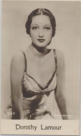 1935 Film Stars 10th Series DeBeukelaer Biscuits #932 Dorothy Lamour ex Blank Back  #*