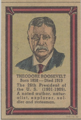 1935-36 Poster Stamps Collectors Club Hand Cut From Newspaper Theodore Roosevelt   #*