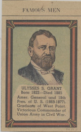 1935-36 Poster Stamps Collectors Club Hand Cut From Newspaper Ulysses S. Grant  #*