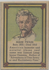1935-36 Poster Stamps Collectors Club Cut From Comic Page Mark Twain  #*