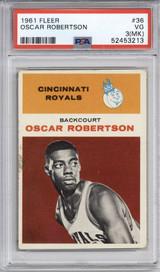1961-62 Fleer #36 Oscar Robertson PSA 3mk VG RC Rookie