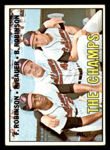 1967 Topps #1 Frank Robinson/Hank Bauer/Brooks Robinson The Champs DP Very Good  ID: 316667